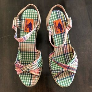 Rocket Dog plaid wedges, size 7. EUC